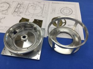 Machined components for Mullard Space Science Laboratory